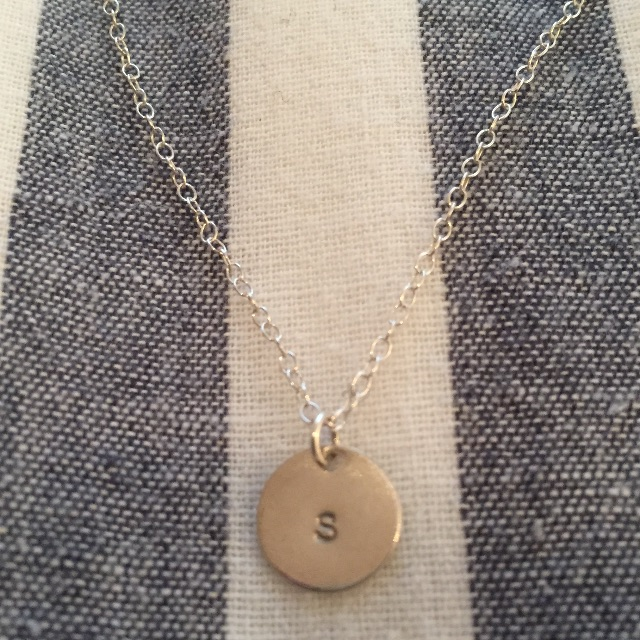 Sterling Silver Disc Necklace 9.5mm