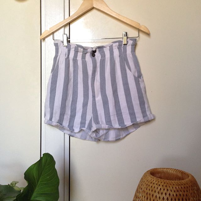 Striped High Waisted Shorts