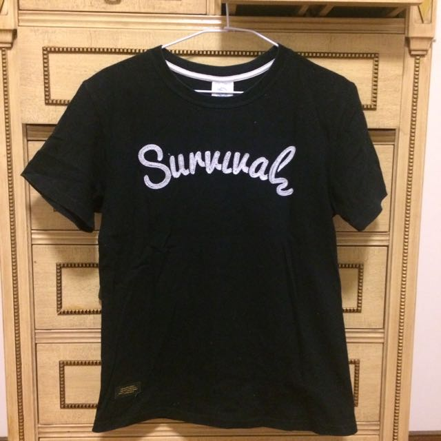 Survival 電繡 短T 黑色