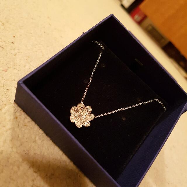 Swarovski Flower Pendant Necklace