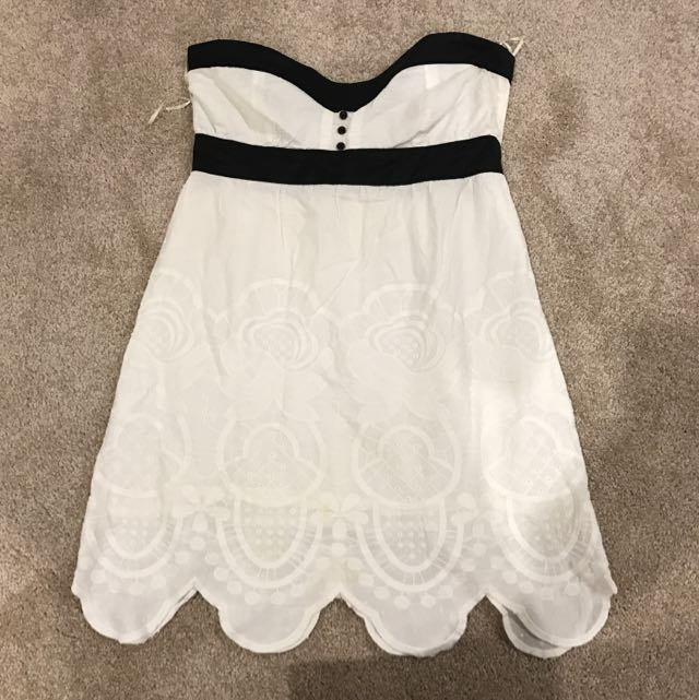 Tigerlily Mini Baby Doll White Cotton Dress