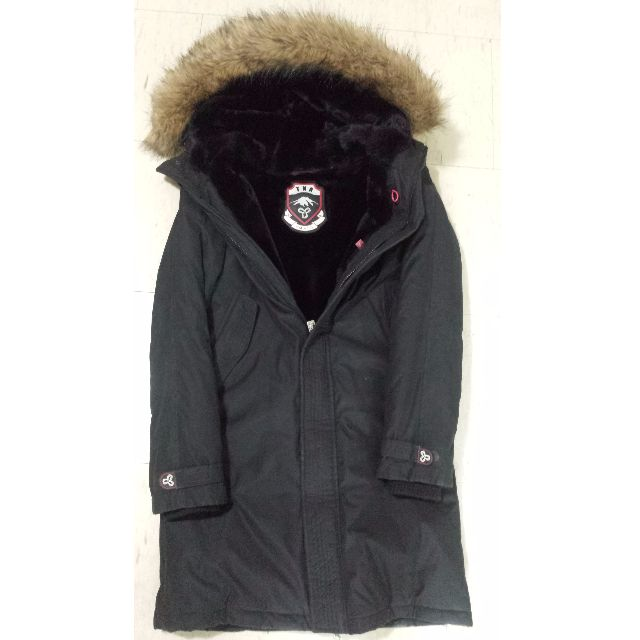 TNA 3/4 Long Parka Vegan Black Women's Small