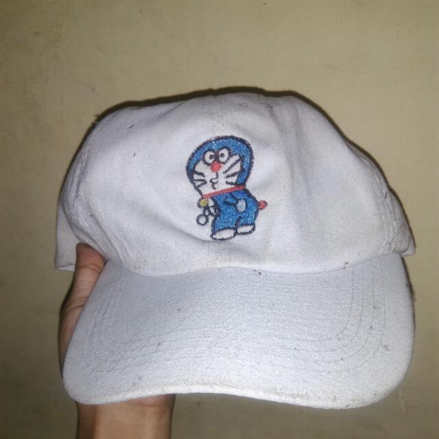 Topi Bordir Doraemon
