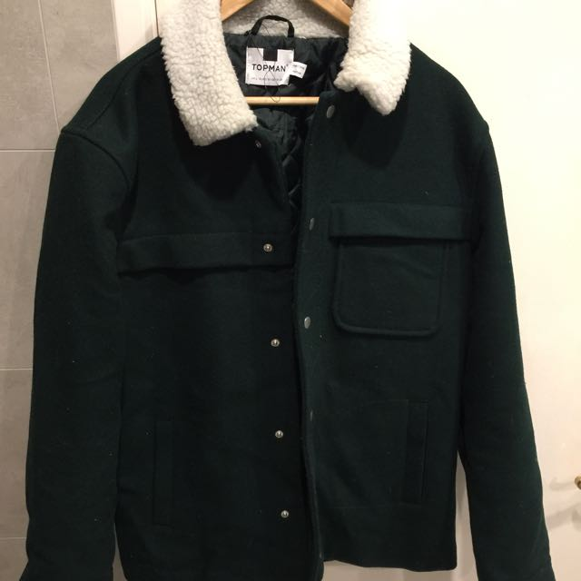Topman Wool Blend Jacket Size large