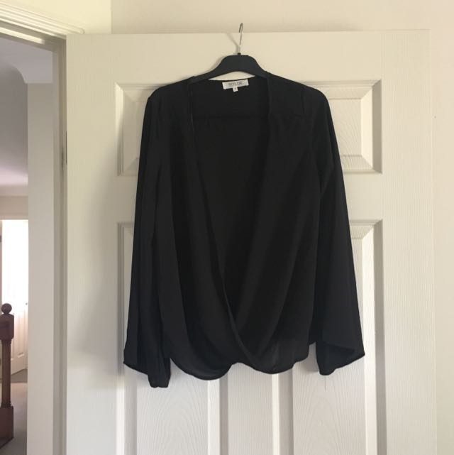 Topshop Bell Sleeve Blouse