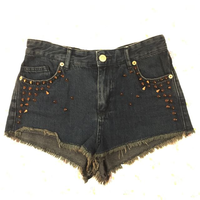 Topshop Studded Shorts
