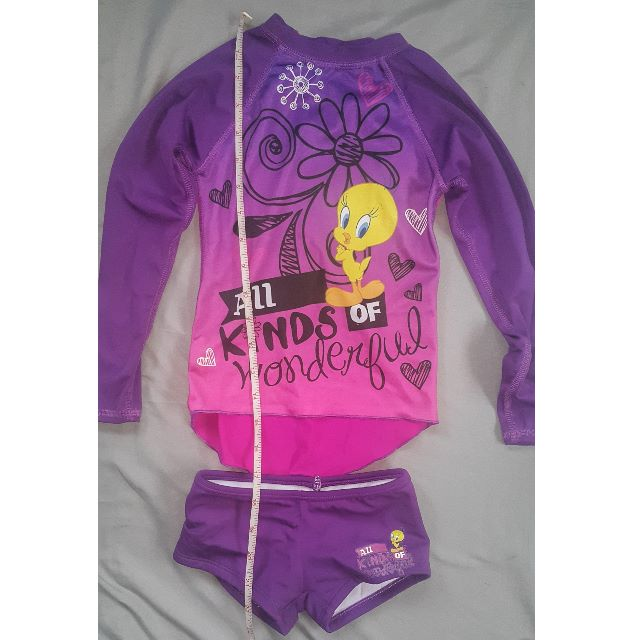 Tweety bird rash guard for 2-4 years old