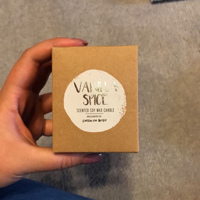 vanilla spice soy candles