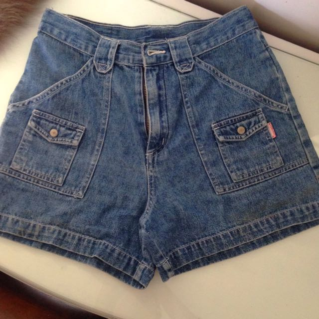 Vintage High-waisted Denim Shorts