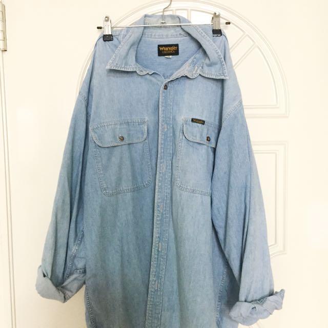 Wrangler藍哥淺藍牛仔襯衫