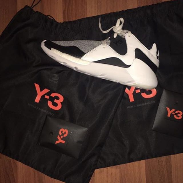 Y3 QR Run white/black