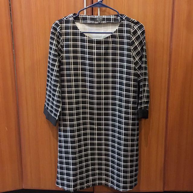 Zalora Checkered Shift Dress
