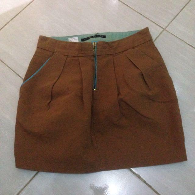 Zara Mini Skirt Brown