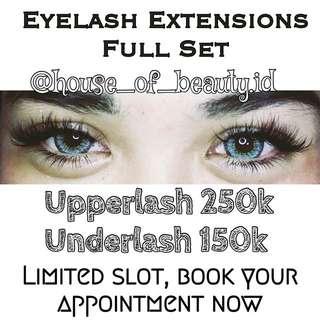 Eyelash Extensions Full Set (Atas-Bawah)