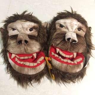 Apujiu✨國外帶回猩猩猴子金剛室內拖鞋搞怪毛絨拖鞋