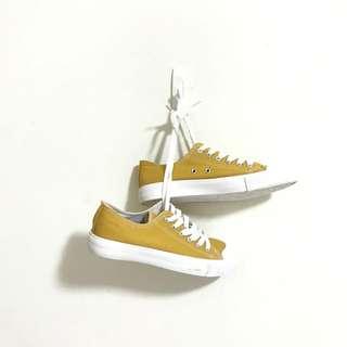 韓版帆布鞋 黃色