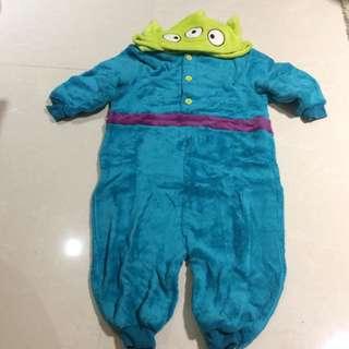 Apujiu✨迪士尼玩具總動員三眼怪珊瑚絨睡衣浴袍兒童睡衣立體造型