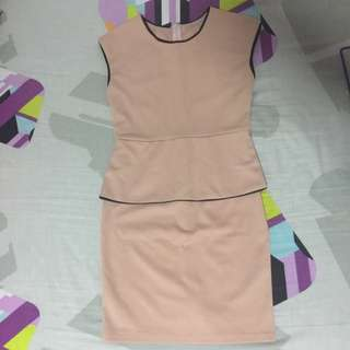 Blush Peplum Work Dress