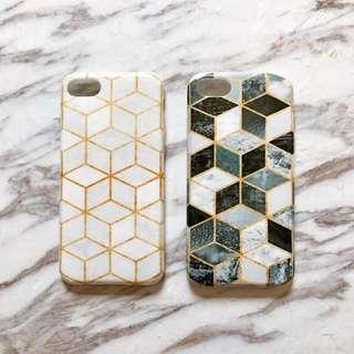 現貨 iPhone7系列 描金幾何大理石系列 TPU全包軟殼