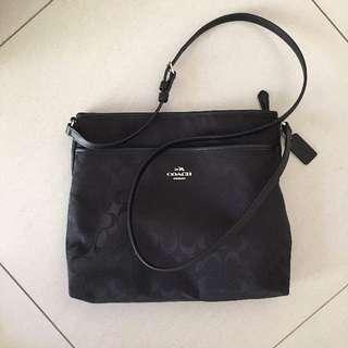 Coach Canvas Bag For Women Black Crossbody Brand New