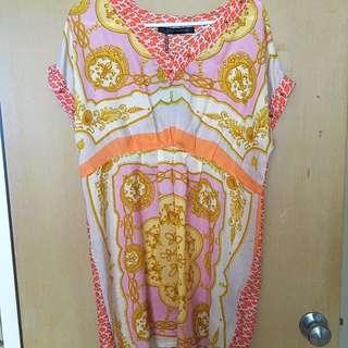 BNWT Zara Scarf Print Dress Medium