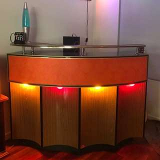 Retro 60's Bar With Lights
