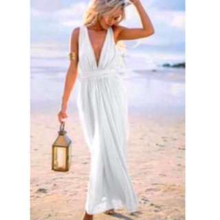 Sabo Skirt White Maxi Dress