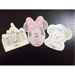 Oo跟著小豬環遊世界購物趣oO 迪士尼 便條紙-達菲 Duffy 米妮 城堡