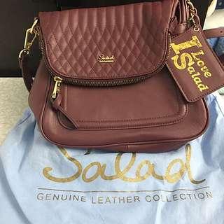 SALAD  shoulder bag 酒紅色