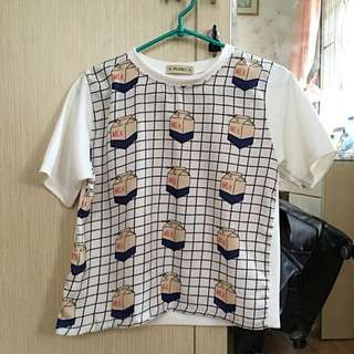 White Top T-shirt Kaos