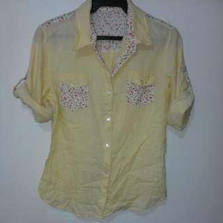 Yellow Polo Shirt Blouse XL