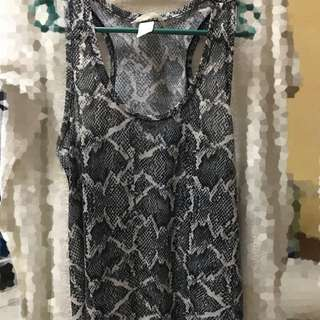 H&M Snake Printed Top Swim Wear
