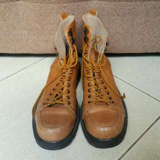 Sparrow Leather Boots 10 Holes