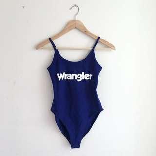 Wrangler Body Suit In Blue