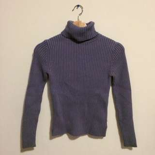 Eddie Bauer Purple/grey Turtleneck Sweater