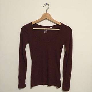 PacSun Burgundy Long Sleeve