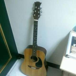 優美良琴 有小傷 音色極優 木吉他