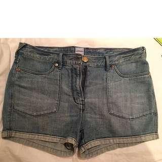 Sass and Bide Size 32 High Waisted Denim Shorts