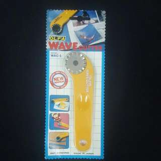 OLFA WAVE CUTTER FOR CLOTH , PAPER/VINYL/ LEATHER