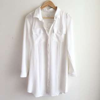PRICE LOWERED: KOOKAI White Collin Shirt Dress