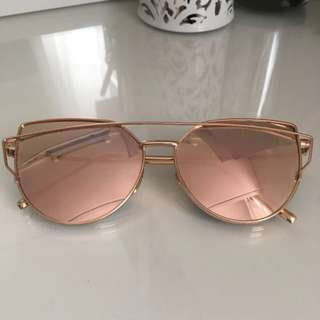 Rose Gold Mirror Sunglasses