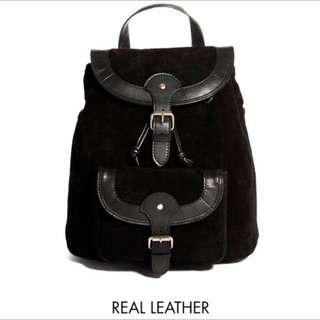 ASOS Vintage Leather Backpack