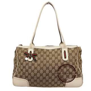 Gucci GG Canvas Printhie Line Tote Bag