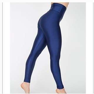 American Apparel Leggings Blue Nylon