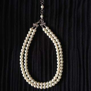 (Reduced) Preloved Double Loop Pearl Necklace