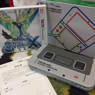 3DSNewLL Super Famicom Edition 超任限定版 + Pokemaon X 日版