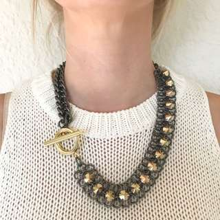 Mimco Chain And Stud Necklace