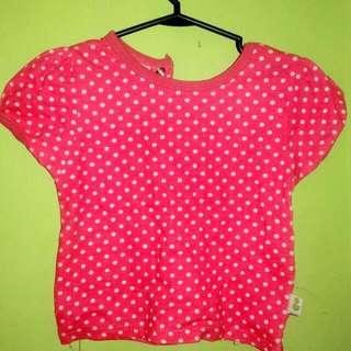 later n po ung brand name.tshirt pink polkadots.original