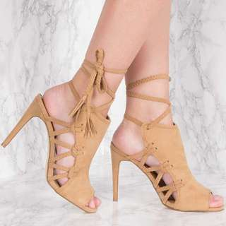 NAKD Camel Side Lacing High Heel