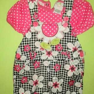 floral jumper & polkadots tshirt